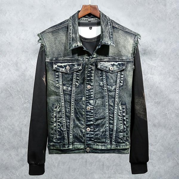 Новый мужской джинсовый жилет прилив мужской мыть вышивка Орел внешней торговли джинсовой одежды внешней торговли мужская одежда пальто пуловер куртки