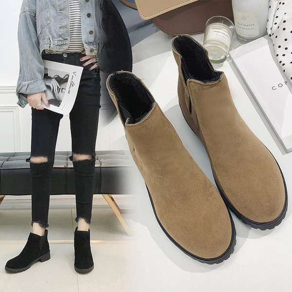 acheter populaire 51265 9ca13 Biker Boots Women Womens Winter Shoes Booties Woman 2018 Botte Femme Lady  Brand Ankle Chunky For Flat Platform Martens Womens Boots Boots Uk From ...