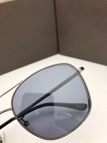 Yeni popüler erkekler alman tasarımcı güneş gözlüğü 724 metal pilot retro çerçeve güneş gözlüğü moda basit tasarım stil ile kılıf