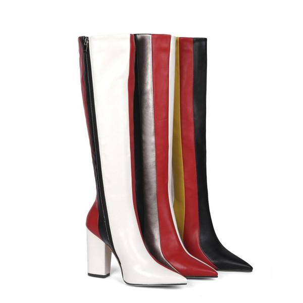 Prezzo scontato donna stivale lungo fatto a mano stivali super star stivali promozione scarpe moda T mostra saldi calzature rosso autunno stivali personalizza taglia