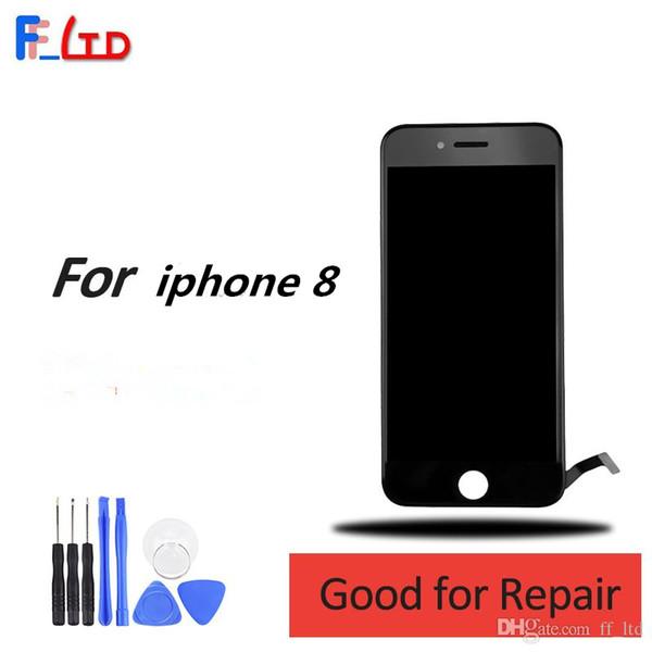 Alta qualità di fabbrica per iPhone 8 Display LCD Digitizer con Touch Screen Sostituire 4,7 pollici Nero bianco 100% testato