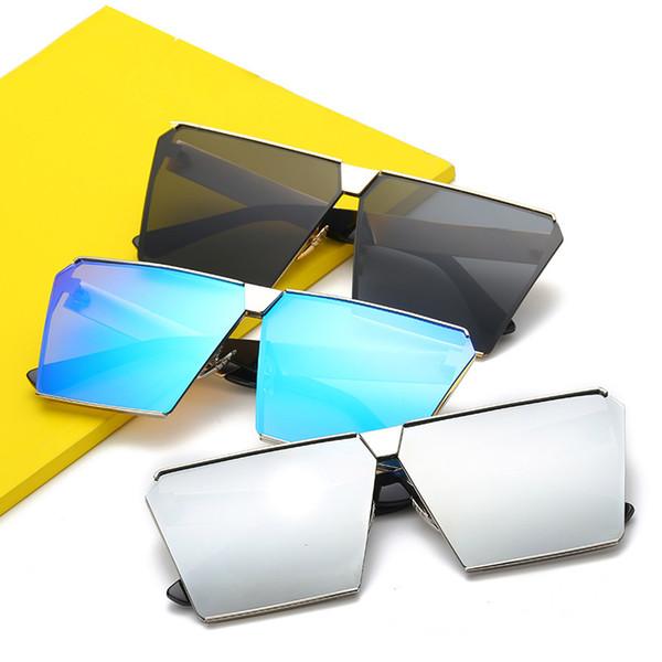 Occhiali da sole quadrati oversize più grandi Donne Occhiali da sole in metallo di design di lusso Occhiali da sole polarizzati Occhiali da sole femminili Vintage UV400