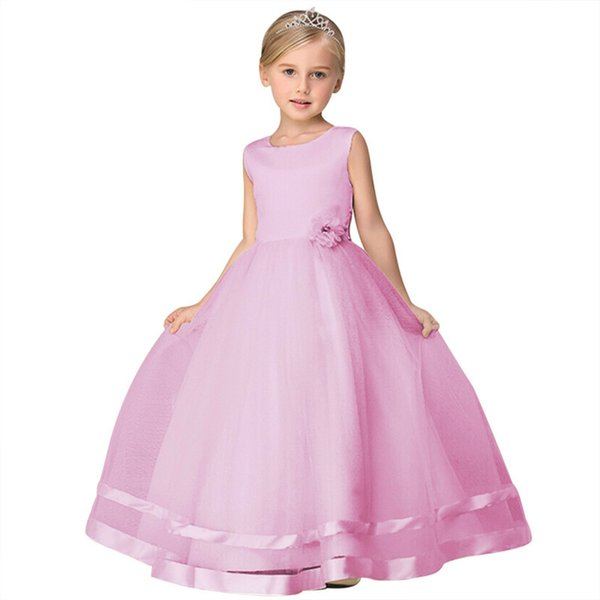 MQATZ Adolescente Girl Dresses Longo Formal Prom Vestido para Crianças Meninas Roupas de Festa de Casamento Tutu Vestido de Festa Crianças Vestido Elegante