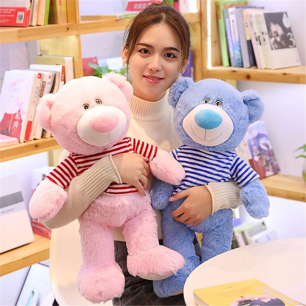 60cm Super Kawaii Teddy Bear Stuffed Plush Doll Kid New Type Teddy Bear Animal Soft Pillow Cute Toy Children Christmas Gift