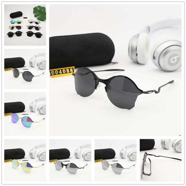 Nova Moda O Metal Polarizada Óculos De Sol HD EUA Polaroid Lente Ultra Light Liga Quadro Primavera Óculos Pernas 004088 Frete Grátis