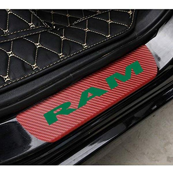 Dodge Aufkleber Carbon Fiber Vinyl reflektierende Fahrzeugschwelle dekorative Anti-Reibung Board-3