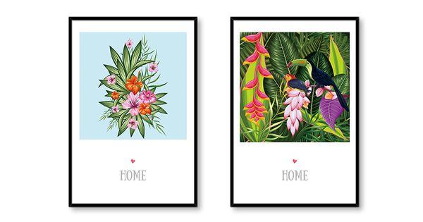 13x18 cm No Frame 2 Pcs Set