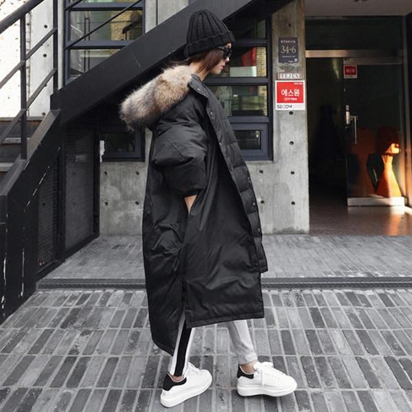 2018 Winter Neue Mode Volle Hülse Einreiher Dick Lässig Große Größe Einfache Frauen Baumwolle gefütterte Jacke