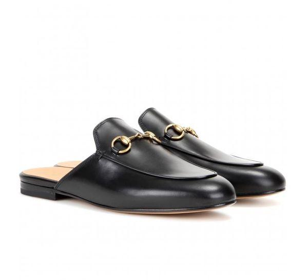 Mullers en cuir semelle demi-enveloppée pantoufles Horsebit italienne classique fée été loisirs porter des mules sandales à l'extérieur en cuir véritable