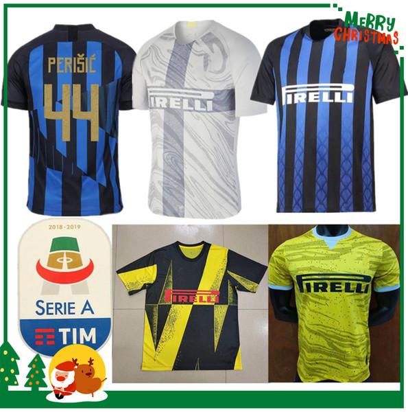 10459f8ec 20 anniversary Inter jersey CANDREVA EDER ICARDI JOVETIC Milan home away  Kondogbia Jovetic 2019 Icardi sports 18 19 inter shirts