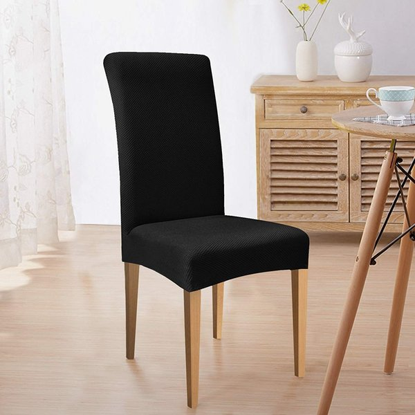 Subrtex Knit Dining Room Chair Slipcovers Stretch Removable Chair Furniture  Protect Covers Washable Elastic Seat Cover Wingback Chair Cover Designer ...