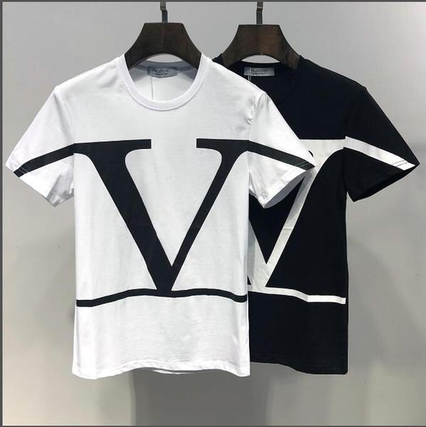 2019 Été Nouvelle Arrivée Top Qualité Valen Designer Vêtements Hommes T-shirts Imprimé Tees M-3XL 6411