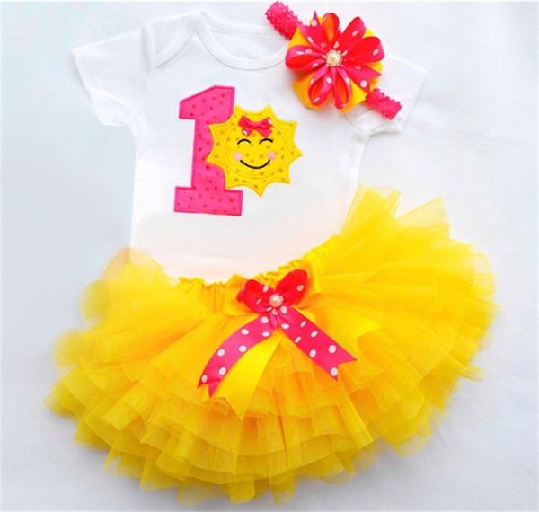Baby Mädchen Taufe Kleidung Tutu flauschige Kleinkind 1st Birthday Party Outfits Säuglingsbekleidung Sets Neugeborenes Baby Dusche Geschenk
