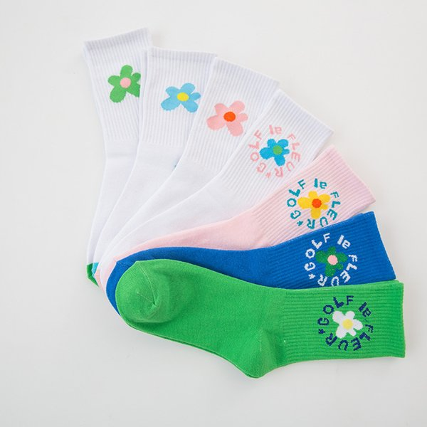 Venta al por mayor Classic Flower Socks para mujeres Casual Cotton Socks Fashion Beautiful Lovers Skateboard Socks Unisex Brand Envío gratis