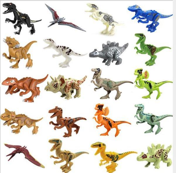 Legoings Jurassic World Park Dinosaure Raptor zone de protection Building Blocks Set Enfants Jouets juguetes Compatible Legoing