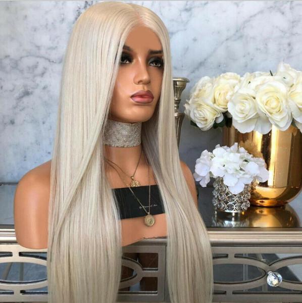 Moda mujer peluca sintética del pelo largo suelto ondulado gris pelucas llenas Cosplay fiesta vacaciones decoraciones de bricolaje