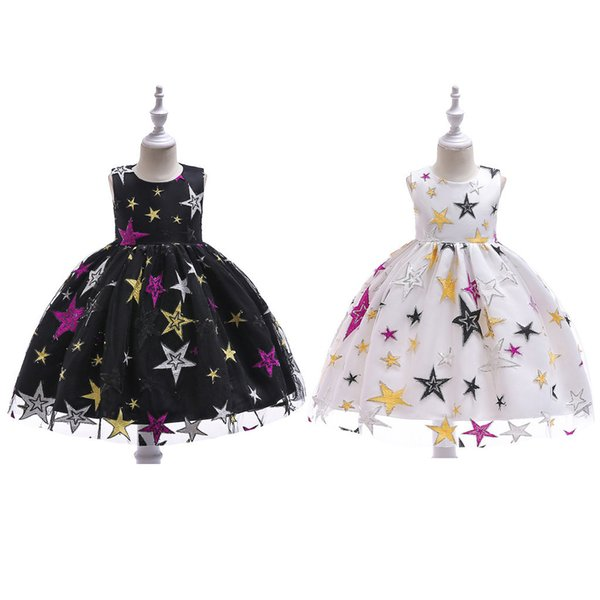 be0fe13a1c4 good quality girls dress Elegant dress for girl Star Print Lace Children Girls  Princess Costumes Party