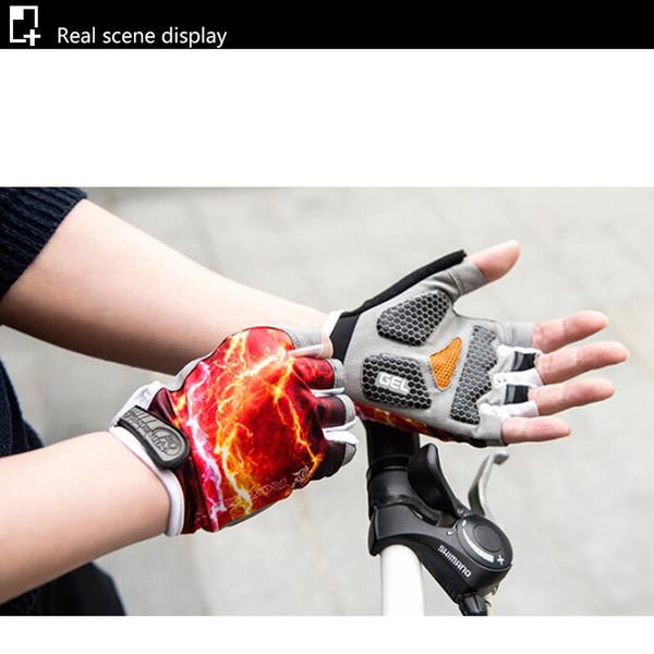 Cyrusher Yaz Bisiklet Yarım Parmak Eldiven Açık Nefes Kısa Parmak Eldiven