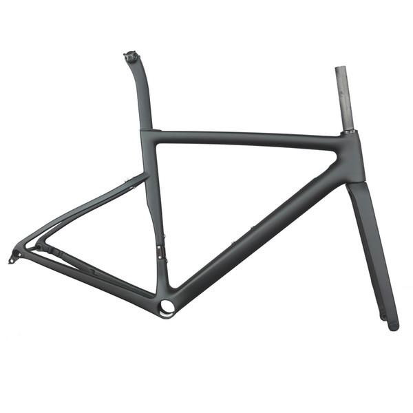 2019 nouveau cadre de vélo de route Seraph 700C PF30 avec axe d'essieu 100 * 142mm finition noire mate Frein à disque cadre de vélo en carbone TT-X19