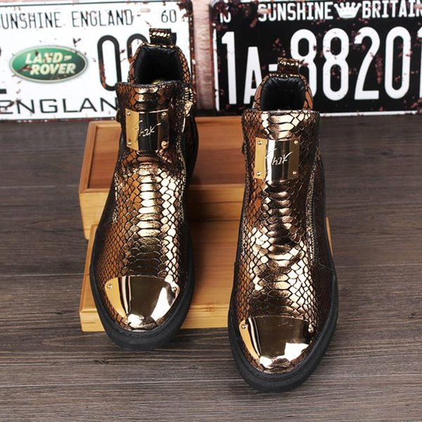 2019 Men's High Top Casual Flats Shoes Man Outdoor Footwear Genuine Leather Ankle Boots Mens Fashion Martin Boots