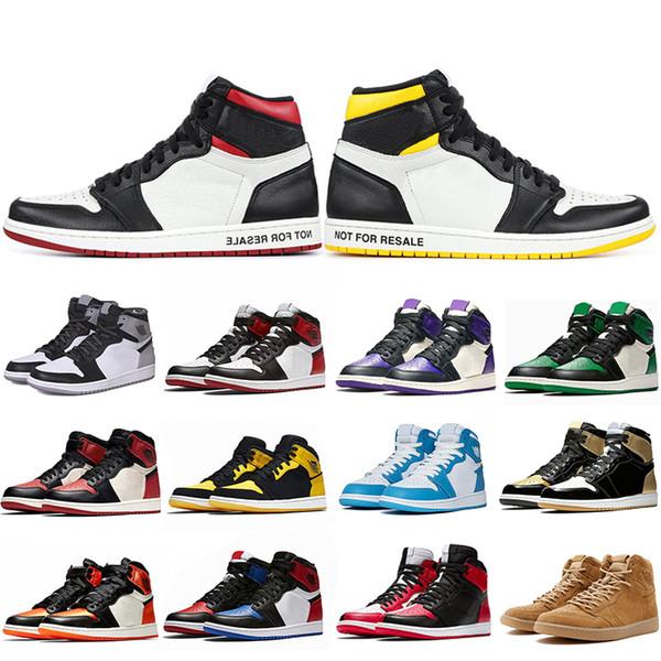 Top Fashion 1 1s Mens Basketball Shoes Not For Resale Red Yellow paris saint german Top 3 UNC Designer Sport Sneakers Size 40-47