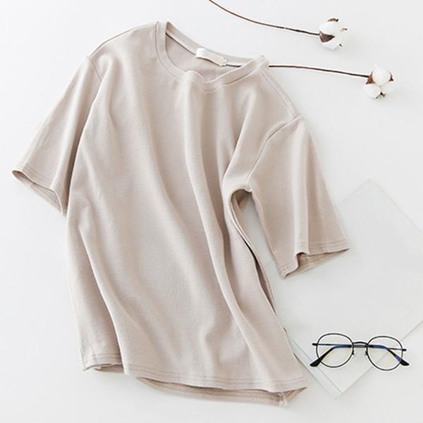 Magliette estive donna Maniche corte Girocollo Pullover minimalista sfoderato Top NYZ Shop