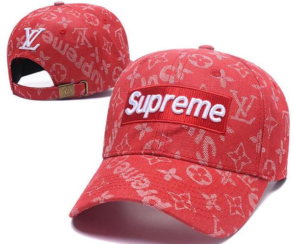 Europa Francia mens de la marca sombreros de diseño L Sup V Snapback de las gorras de béisbol ajustable casquette verano de lujo Señora camionero sombrero de la manera del verano 05