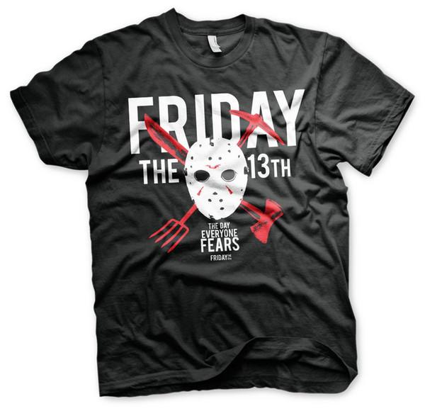 Oficialmente Licenciado Sexta-feira 13 - O Dia em que Todos Temem a T-Shirt Masculina (S-XXL)