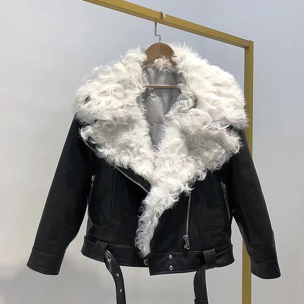 Winter Für 2018 Warmer Mantel Frau Echt Großhandel 02 Lämmer Charle1023 Pelz Schaffell Daunenjacke Ledermäntel Damen Leder Von Auf n8vmN0w