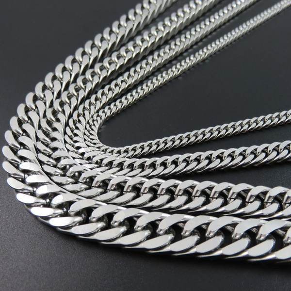 Steel Link Chain Necklace Cuban Men Of The Best Friends Of Man Jewelry, Gifts, Accessories For Women, Long Necklaces Hip Hop