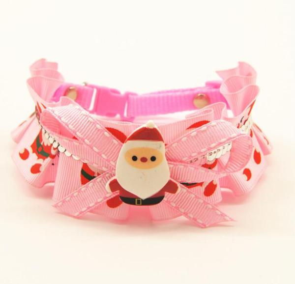 Navidad mascota collar diseñador mascota cuello flor Teddy Golden Hair mascotas suministros envío gratis 082403