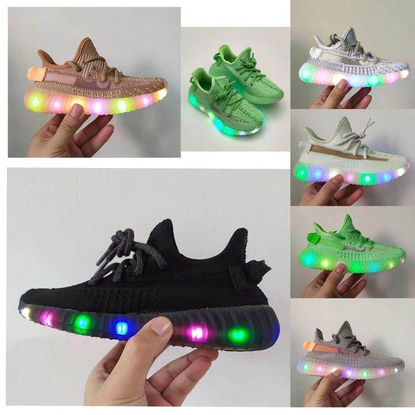 Infant Forme True V2 Hyper Espace Enfants Chaussures De Course Argile Kanye West Mode Enfant Baskets Grand Petit Garçon Fille Enfants Sneaker