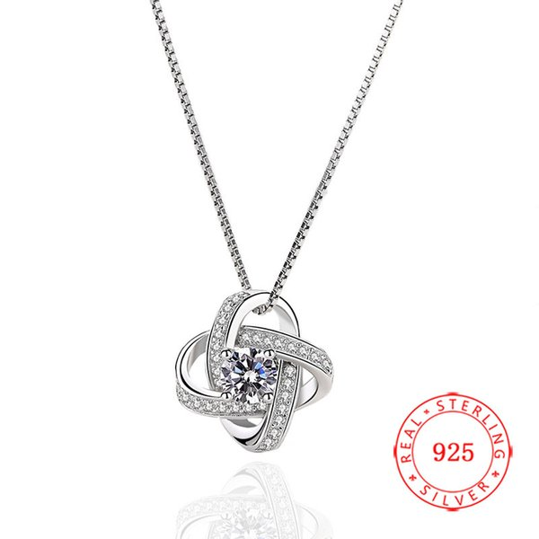 China genuine 925 sterling silver pendant high quality white gold plating baby white and purple cubic zirconia jewelry wholesale