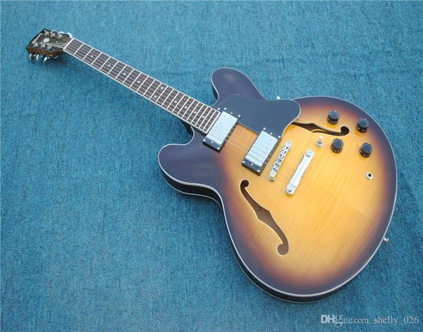 best selling Free Shipping sunburst color F-Hole hollow body OEM chibson Electric Guitar 335