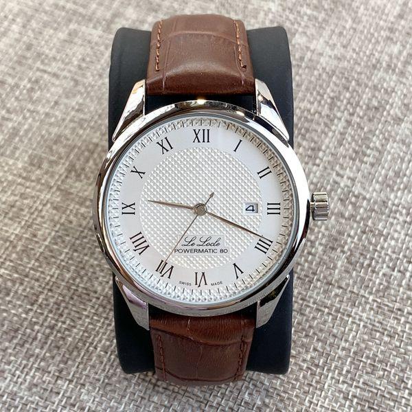 Top vente de luxe en cuir homme Mode simple de haute qualité Montre robe Montre classique Quartz de couleur noire Sport Montres-bracelets dropshipping