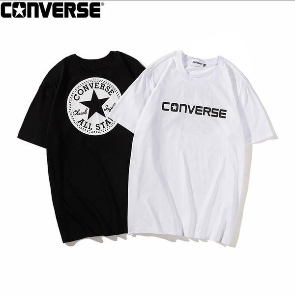 Moda de Brooklyn Box Logo camisetas Hip-Hop Skateboard O-cuello Clásico de manga corta de algodón de verano camisetas S-XXL