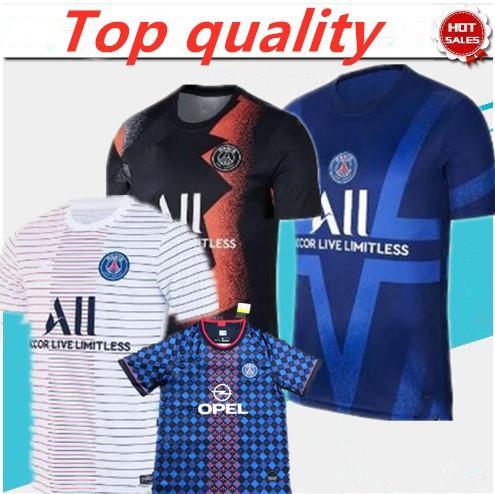 2021 2022 nuovi blu Jersey di calcio 21 20 GANA maillot de foot paris Mbappe Cavani SARABIA DI MARIA personalizzato maglia maglie da calcio sport