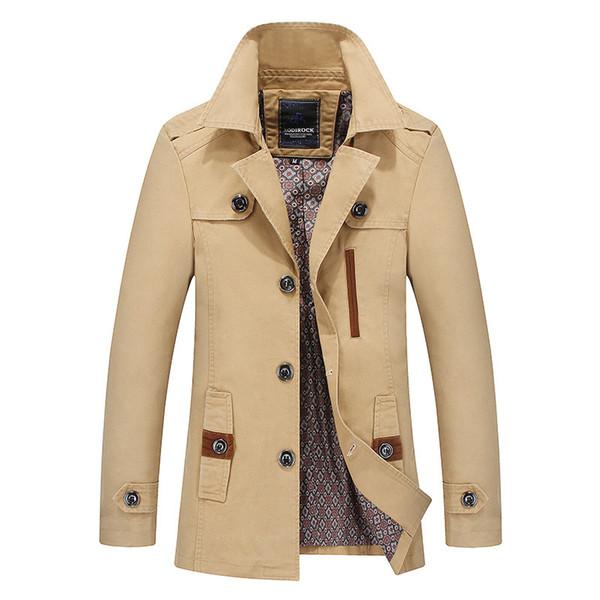 Cazadora de otoño Con capucha Chaquetas casuales delgadas Hombres Abrigo Trench Sudaderas con capucha Chaqueta masculina Abrigo largo Coreano