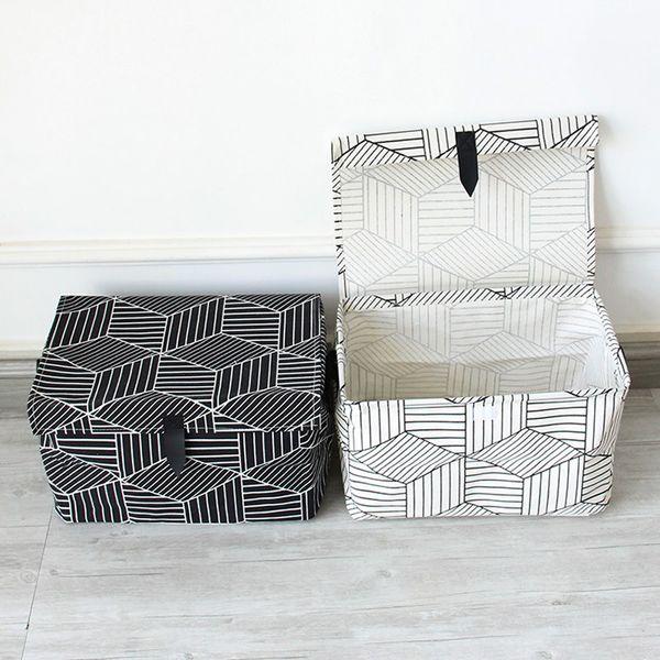 Black White Household Portable Storage Box Clothes Organizer Storage Box Underwear Bra Packing Makeup Cosmetic Cloth Bag