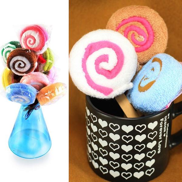 Event Party Favors Creadtive gant de toilette serviette cadeau Lollipop serviette mariée Baby Shower faveur de mariage cadeau de couleur aléatoire cadeaux