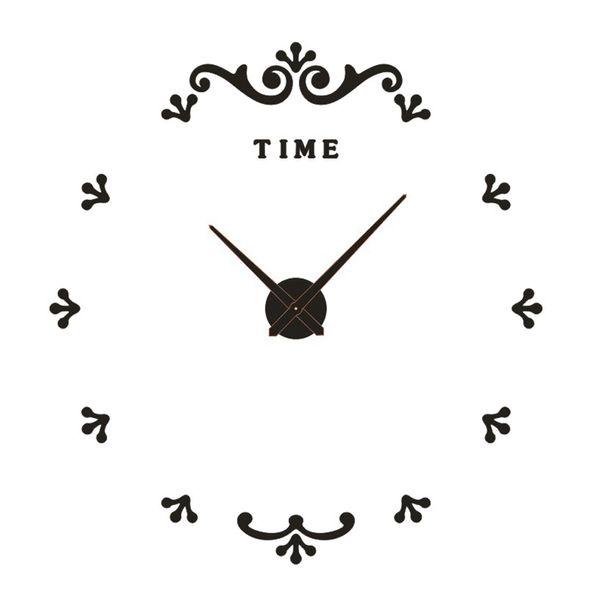 2019 modern design rushed Quartz clocks luminous watches mirror sticker diy living room decor new arrival 3d real big wall clock
