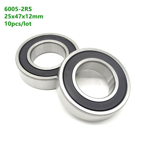 1 QTY 6005-2RS Rubber Sealed Deep Groove Ball Bearing 25 mm x 47 mm x 12 mm