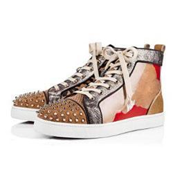 Top Luxury Fashion Flat Повседневная обувь Printed Шпильки High-Top Узелок кожи женские партии Дизайнер кроссовки h0717