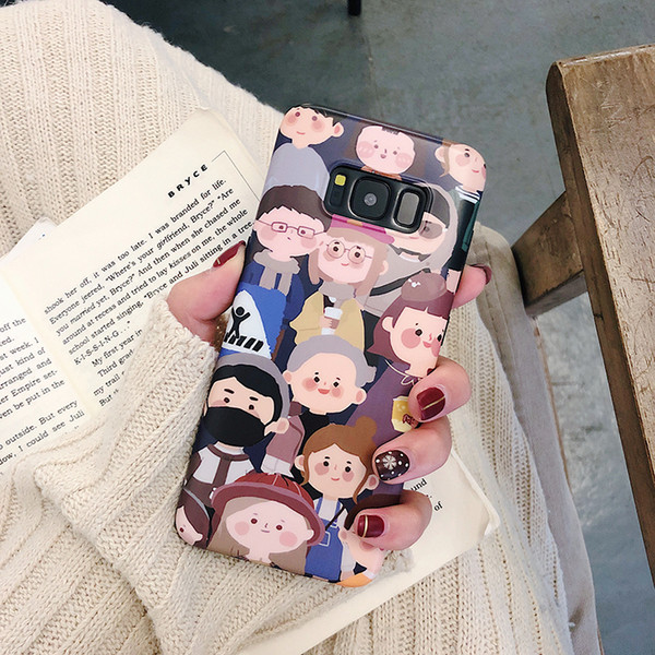 Cartoon Painting Phone Cases For Samsung Galaxy S10 Plus S8 S9 Plus Note 8 Note 9 Cute Crowd Child Boy Girl Soft Cover