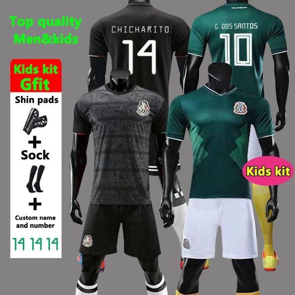 Gold Cup 2019 Camisetas Mexico 19 20 HOMME FEMMES ENFANTS maillot de football 2018 CHICHARITO LOZANO DOS SANTOS maillot de foot fille camisa de futbol