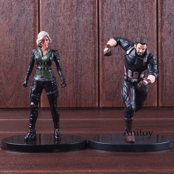 Avengers Infinity Savaş Action Figure Marvel Sıcak Oyuncaklar Black Widow Şekil Kaptan Amerika PVC Koleksiyon Model Oyuncaklar SH190915
