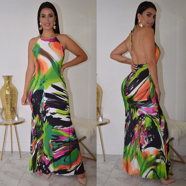 ladies wearing dresses dresses for womens ladies designcostume a backless print a halter dress