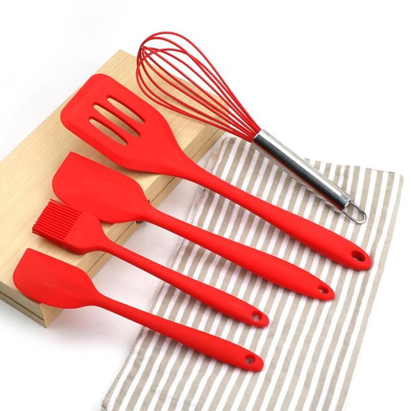 Silicone Cooking Tool Sets Egg Beater Spoon Spatula Oil Brush Kitchenware  Kitchen Utensils Sets For Kitchen Aluminum Cookware Sets Anolon Cookware ...