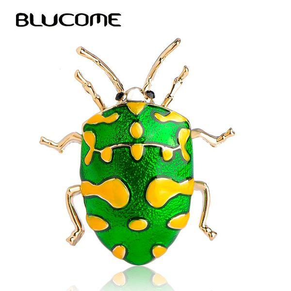 nsect spilla Blucome Vivid Yellow Spot Insect Spilla Kids Girls Clothes Decoration Gold-color Verde smalto Pins Vestito Coat Dress Maglione C ...