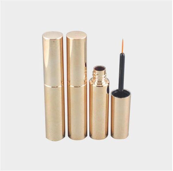250pcs/lot Free Shipping 8.0ml UV matte silver,golden,black cosmetic plastic bottle packaging empty eyeliner bottle liquid ink tube